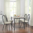 Dorel Venice 3 Chair Faux Marble and Metal Dining Set, Pearl White - $139