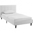 Modway Linnea Twin Upholstered Platform Bed in Light Grey - $158